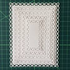 Swovo Nested Stitched Scallop <b>Rectangle Frame Metal Cutting</b> Dies ...