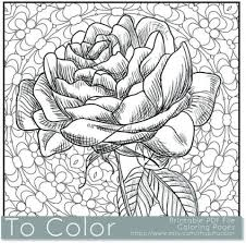 Rose coloring pages are enchanting! Get This Printable Roses Coloring Pages For Adults Online 91060