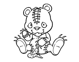 Small Picture Scary Coloring Pages To Print Fun for Christmas