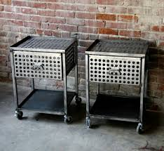 industrial metal furniture. Like The Wheels On These Industrial Metal Tables Furniture L