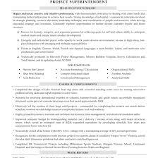 Construction Superintendent Resume Templates Construction Superintendent Resumes Sample 2 Resume Templates