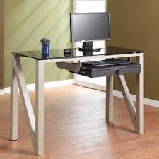 furniture wonderful ikea computer desk for home office furniture ideas interesting wooden frame with glass computer table with modern sliding keyboard