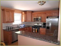 Tan Brown Granite Countertops Kitchen Wonderful Kitchen Backsplash With Oak Cabinets 6 Donna S Tan