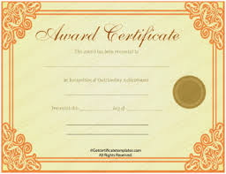 Professional Certificates Templates Professional Award Certificate Template Best Free Printable