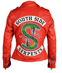 riverdale womens red southside serpents leather jacket