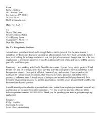 Receptionist Cover Letter Interesting Cover Letter Sample For Veterinary Receptionist Vet Tech Assistant