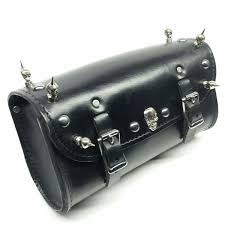 handmade leather motorcycle fork bag new