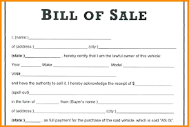 Printable Bill Of Sale Auto Download Them Or Print