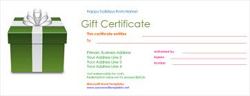 Gift Certificates For Your Business Get A Free Gift Certificate Template For Microsoft Office