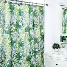 stylish inspiration palm shower curtain at home polyester tree green white curtains bath accessory sets t