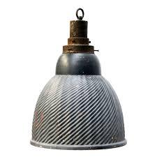 dark blue grey glass inside mirror vintage industrial pendant lamps 2x at 1stdibs