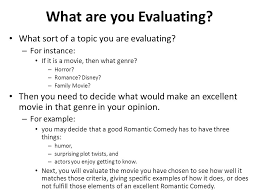 movie evaluation essay example film evaluation essays personal  what are you evaluating what sort of a topic you are evaluating movie evaluation essay