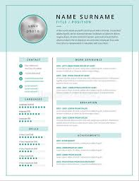 Medical Cv Resume Template Example Design For Doctors Stock