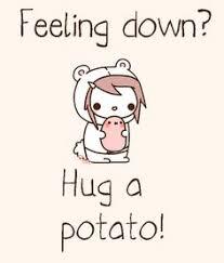 cute potato wallpaper. Modren Cute I Kawaii Potato Feeling Down Hug A For Cute Potato Wallpaper I
