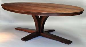 Oval Kitchen Table Pedestal Antique Oval Walnut Dining Table Retro Spacious Furniture Solid