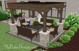 patio designs. Patio Designs With Pergola Simple And Affordable Brick Design  4 Modern Plants Ornaments Green Theme Patio Designs