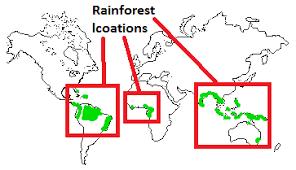 Rainforests in the world 1 rainforests in the world 2. Rainforest Locations Map Where Are Tropical Rainforest Located T4tutorials Com