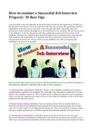 How To Be Successful In A Job Interview How To Conduct A Successful Job Interview Properly 10