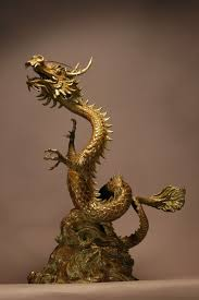 bronze water features fountains and cascades sculpture by sculptor kathleen friedenberg titled lucky on chinese dragon metal wall art with sculpture lucky dragon writhing oriental chinese statue bronze