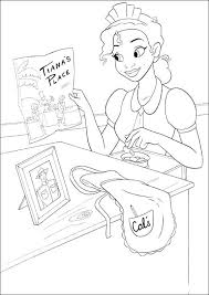 Pictures Tiana Working Coloring Pages More Coloring