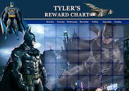 Batman Behavior Chart Details About Personalised Childs Batman Reward Chart Magnet Strips Reward Star Stickers