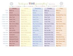 Make A Time Schedule No More Wasted Days As A Stay At Home Mom I Made This Schedule So I