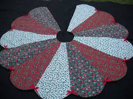 33 best Christmas quilted tree skirts images on Pinterest ... & Christmas Tree Skirt Handmade Red Green White Holiday Print 57 inches.  $45.99, via Etsy Adamdwight.com
