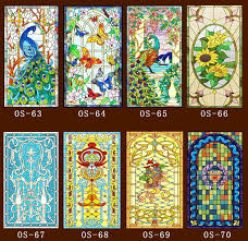 60cm 100cm pcs custom no glue static window sticker scrubs translucent church stained glass