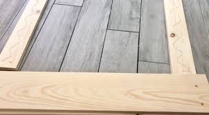 apply wood glue to the back of your 1 4 s make sure not to get too close to the edges as the glue will expand slightly