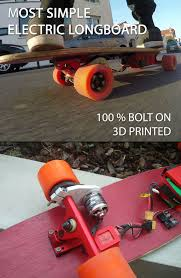 learn the easiest way to build an electric longboard with 3d printed parts this longboard has a top sd of about 34 kph and a battery life of 30