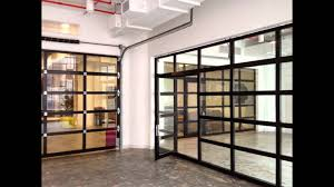 clear garage doorsAluminum  Clear Glass Garage Door with a Passing Door by