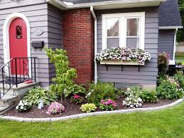 ... Charming Green Round Vintage Grass Landscaping Ideas For Front Of House  Ornamental Flowers On ...