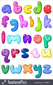 letters and numbers 3d bubble shaped lower case alphabet set