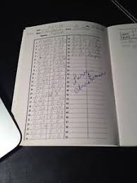 Vintage Chess Scoresheet Signed Gm Larry Christiansen Simul Program ...