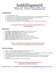 Resume Music Musical Resumes Templates Memberpro Co Music Resume Template For 4