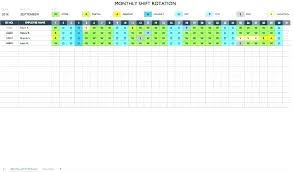 Example Of Work Schedule Template