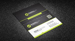 Free Psd Business Card Templates Free Perfect Lime Green Corporate Business Card Template