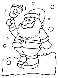 Kleurplaat Kerstman Kleurplatennl