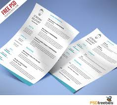 Minimal And Clean Resume Free Psd Template Psdfreebies Com