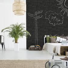 Afwasbaar Zwarte Stenen Behang Funkywalls Dé Webshop Voor