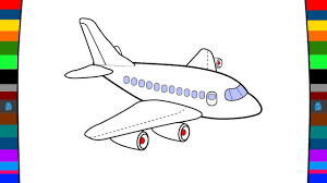 airplane pictures to colour. Beautiful Pictures How To Draw And Colour A Airplane Inside Pictures To