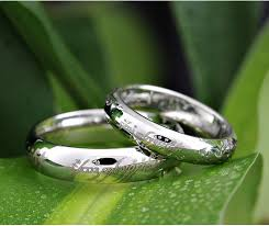 matching silver wedding bands. matching engraved lotr 925 sterling silver wedding bands set for couples n