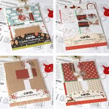 Eno Greeting Christmas Card Kit 6 Cards Complete Cardmaking Kit Kids