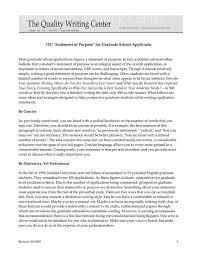 Sample Statement Of Purpose For Graduate School Best Of Graduate