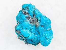 <b>Rough blue Turquoise</b> gemstone on <b>white</b> — Stock Photo ...