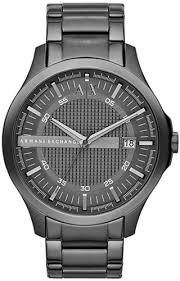 gun metal armani exchange hampton steel watch ax2135 men s gun metal armani exchange hampton steel watch ax2135