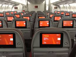 seat rows in the economy cl cabins of iberia s airbus a330 300s are arranged