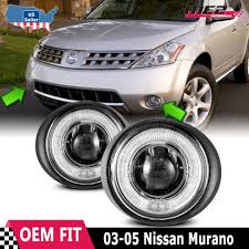 2011 Nissan Murano Fog Light Assembly Details About For Nissan Murano 03 07 Factory Replacement Halo Projector Fog Lights Clear Lens