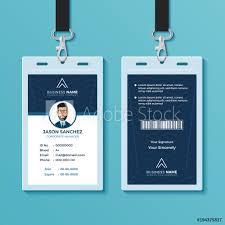 Identity Card Design Modern And Clean Id Card Design Template Foto Poster Wandbilder