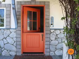 Orange front door Burnt Orange Traditional 36 Emily A Clark Dutch Doors Orange County Ca Todays Entry Doors